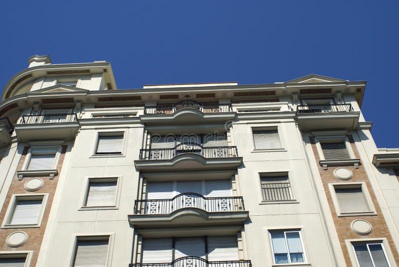 Exterior. Or facade with window balconies stock photography