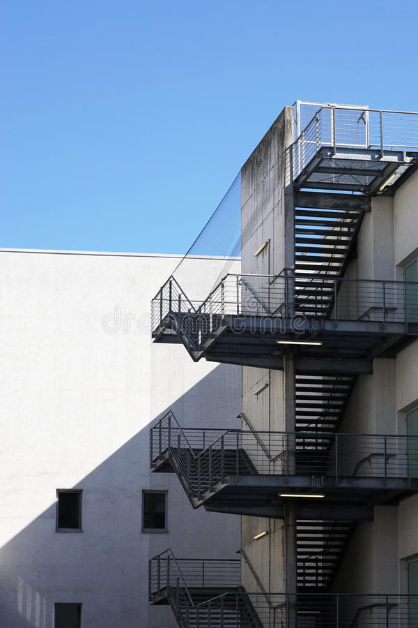 Elegant Download Exterior Fire Exit Stairs Or Staircase Stock Image   Image Of  Metal, Safety: