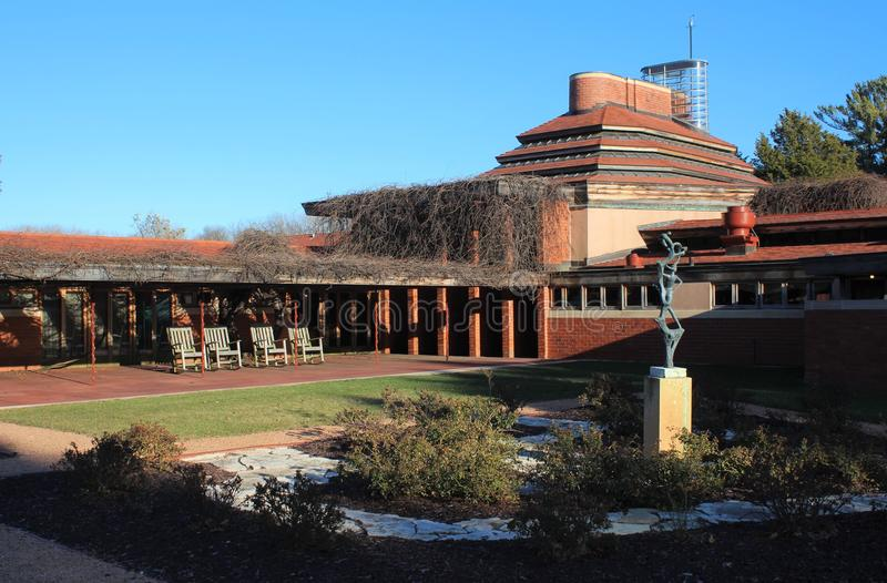 Exterior, Frank Lloyd Wright Building Wingspread, Racine Wisconsin fotografia de stock royalty free