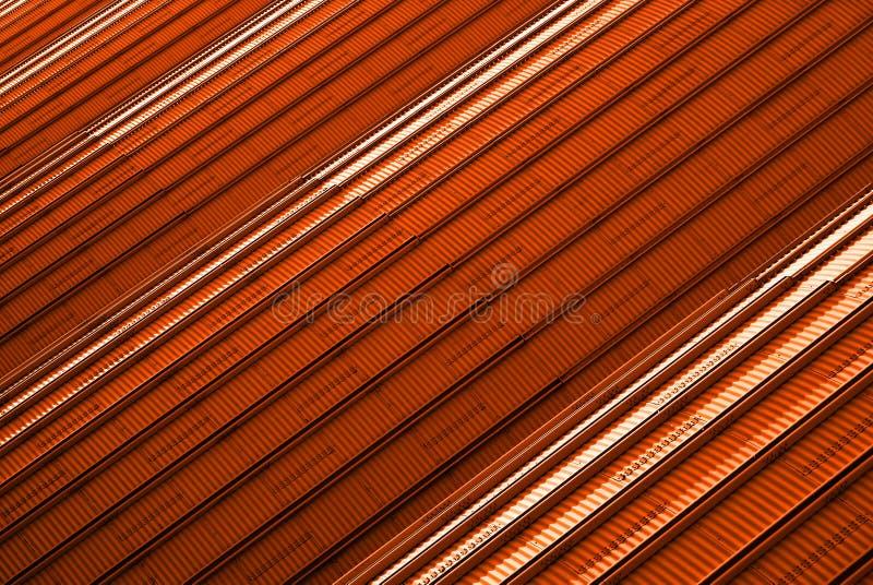 Exterior futurista vermelho   foto de stock royalty free