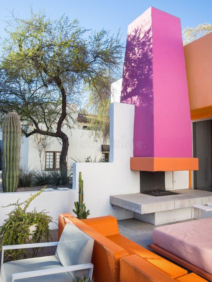 Vivid colors, Southwest architecture royalty free stock photos