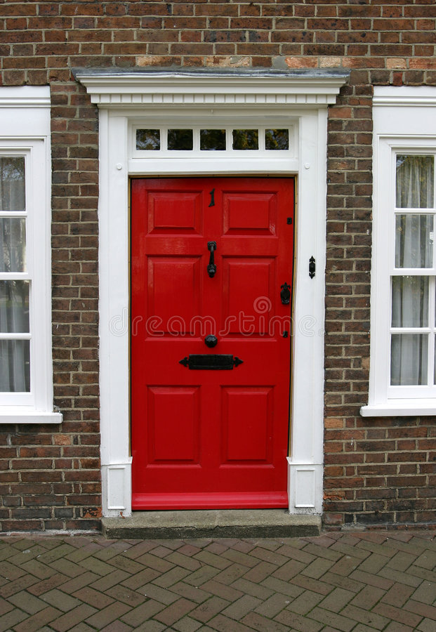 Exterior Georgian da porta da casa imagem de stock royalty free