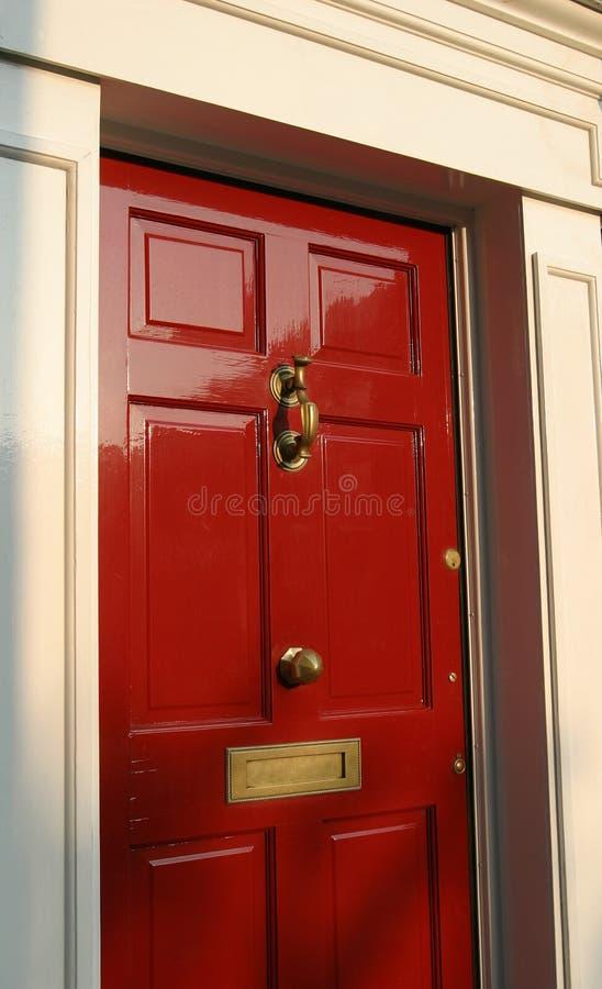 Exterior Georgian da porta da casa fotografia de stock
