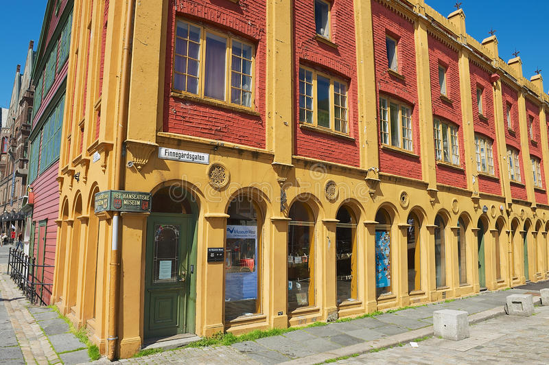 Exterior of the Hanseatic museum historical building in Bergen, Norway. stock photography