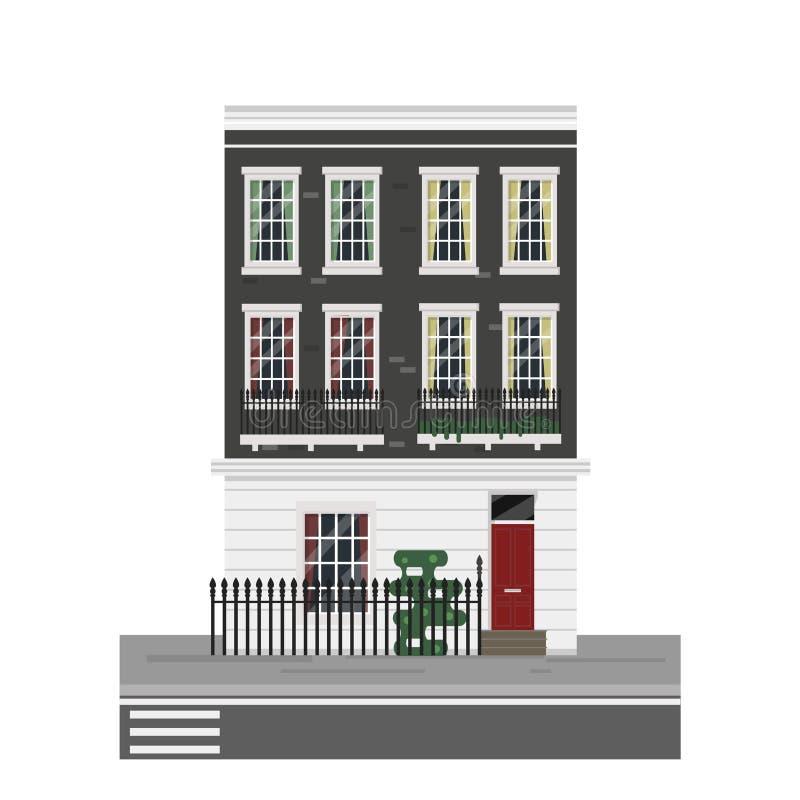 Exterior inglés de la casa libre illustration