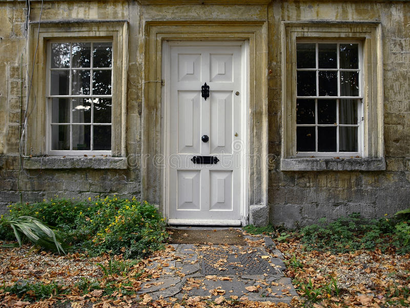 Exterior of a London Town House. Front door and garden path of a London town house royalty free stock photo