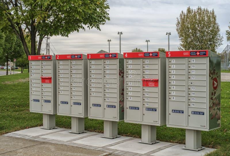 Exterior mailbox stock photo