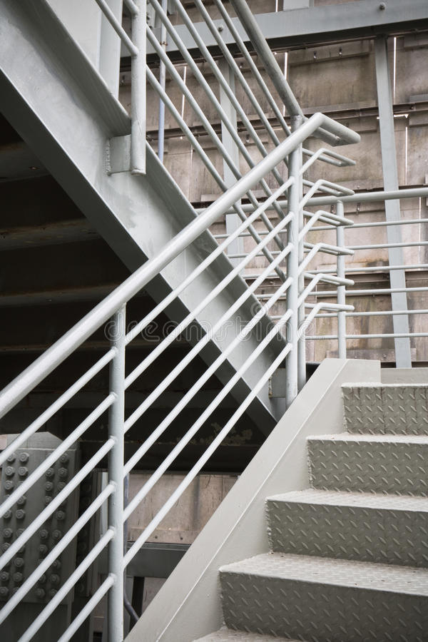 Exterior Metal Structure Building Exit Stairs Background Copy ...