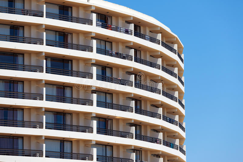 Exterior of a modern apartment block royalty free stock photography