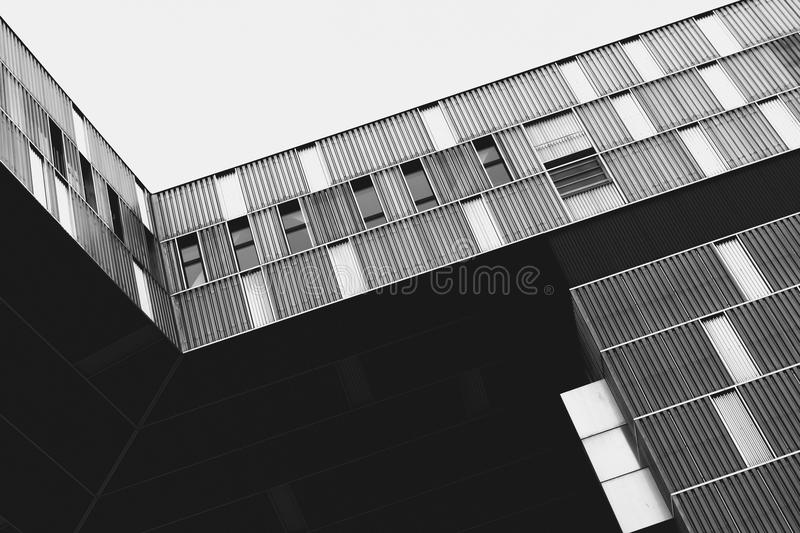 Exterior Of Modern Building In Black And White Free Public Domain Cc0 Image