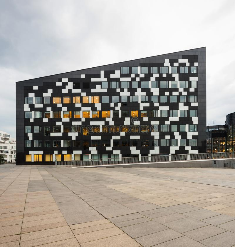 Exterior of modern glass building. Exterior of modern building in Copenaghen stock photo