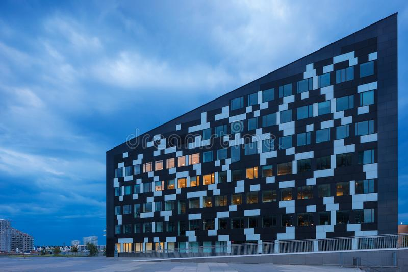Exterior of modern glass building. Exterior of modern building in Copenaghen royalty free stock image