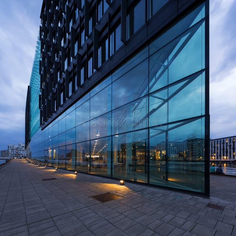 Exterior of modern glass building stock photos