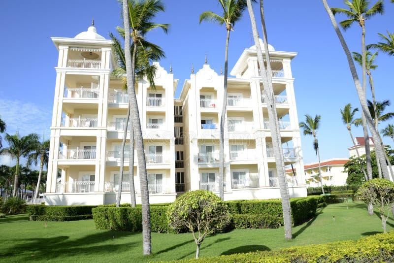 Exterior of a modern tropical resort stock photo