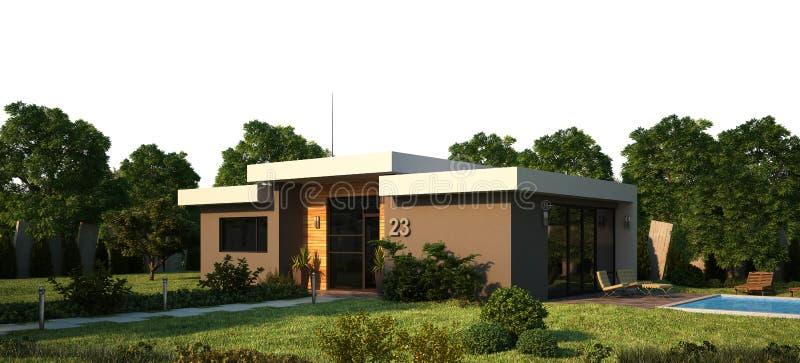 Exterior moderno da casa ilustração do vetor