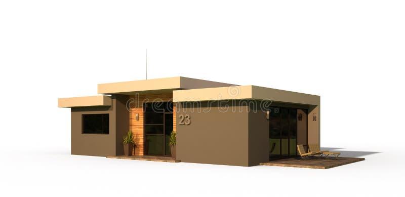Exterior moderno da casa ilustração royalty free