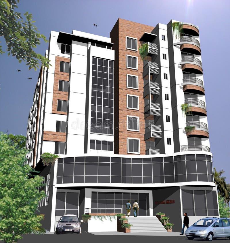 Exterior moderno del edificio 3d imagen de archivo for Exterior edificios