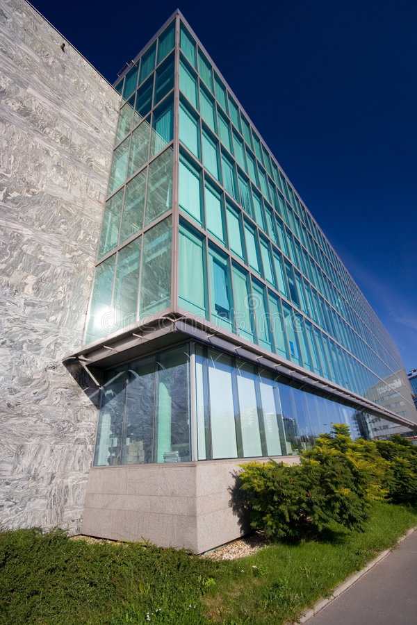 Exterior moderno do edifício foto de stock royalty free
