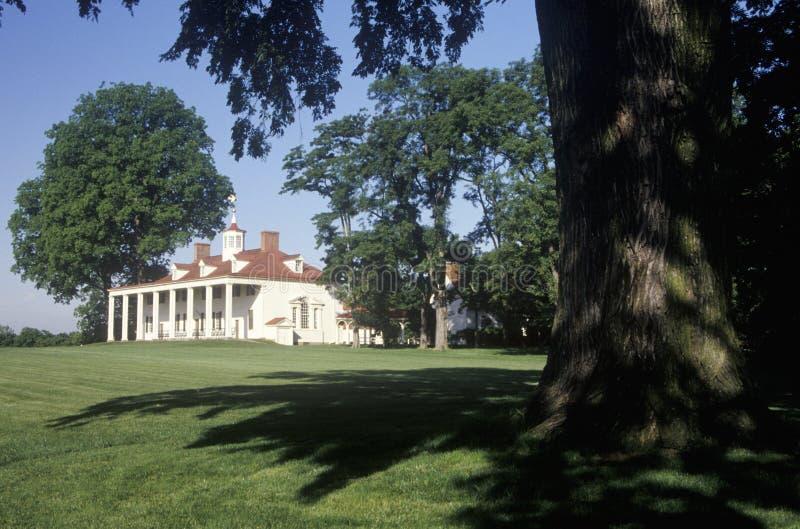 Exterior of Mt. Vernon, Virginia, home of George Washington royalty free stock image