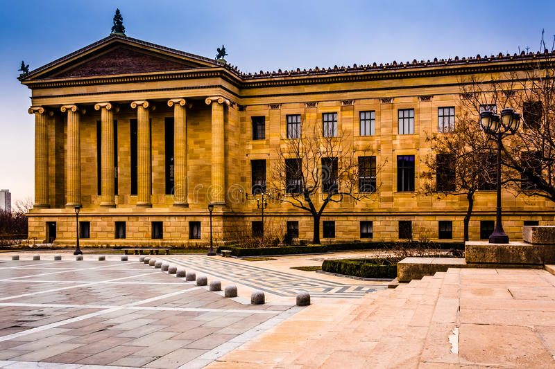 Exterior of the Museum of Art in Philadelphia, Pennsylvania. royalty free stock photos