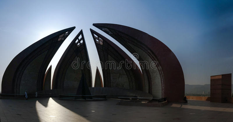 Exterior of National monument, Islamabad Pakistan stock photography