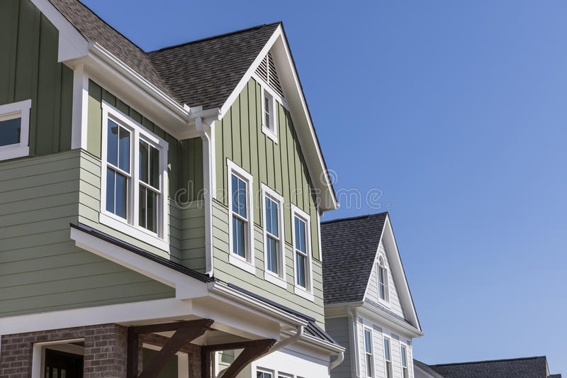 Exterior of a new model house royalty free stock photo