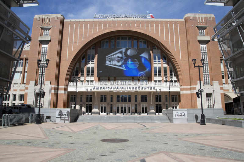 Exterior of nice America Airlines Center Dallas stock photo