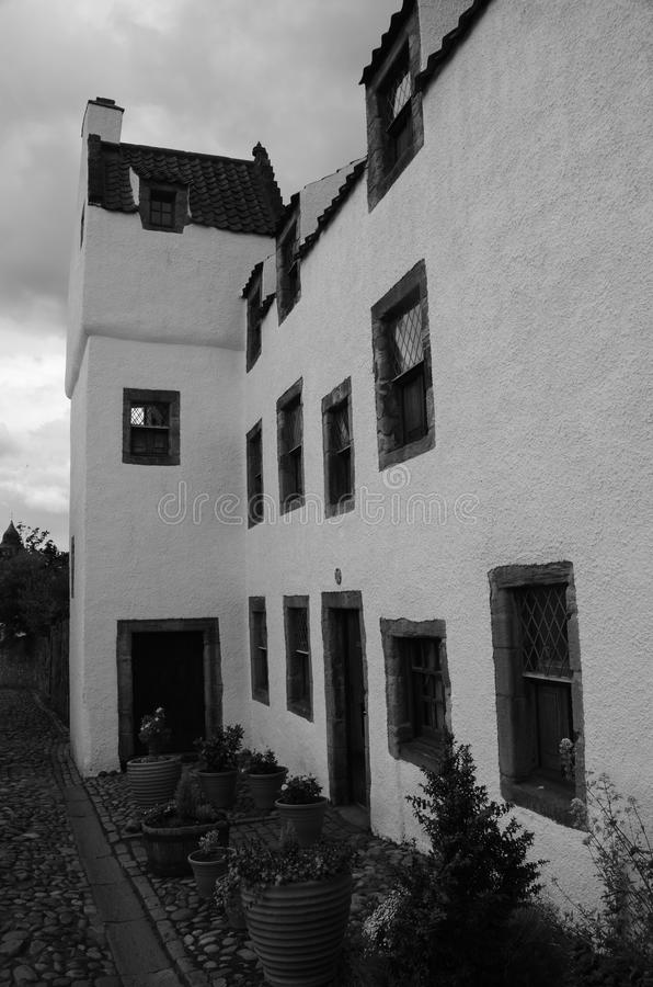 Exterior of Old Building. A view of old buildings in the medieval Royal burgh of Culross royalty free stock photo