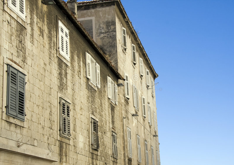 Exterior of old Croatian house stock photo