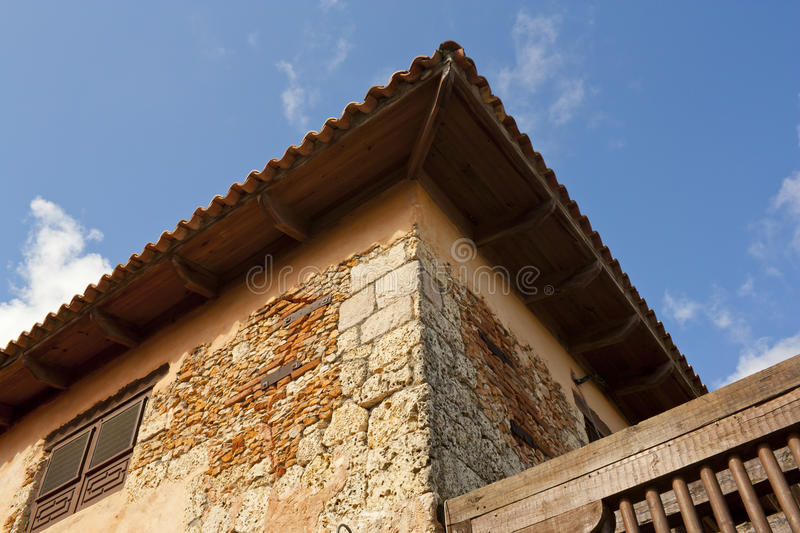 Exterior of old house royalty free stock photo