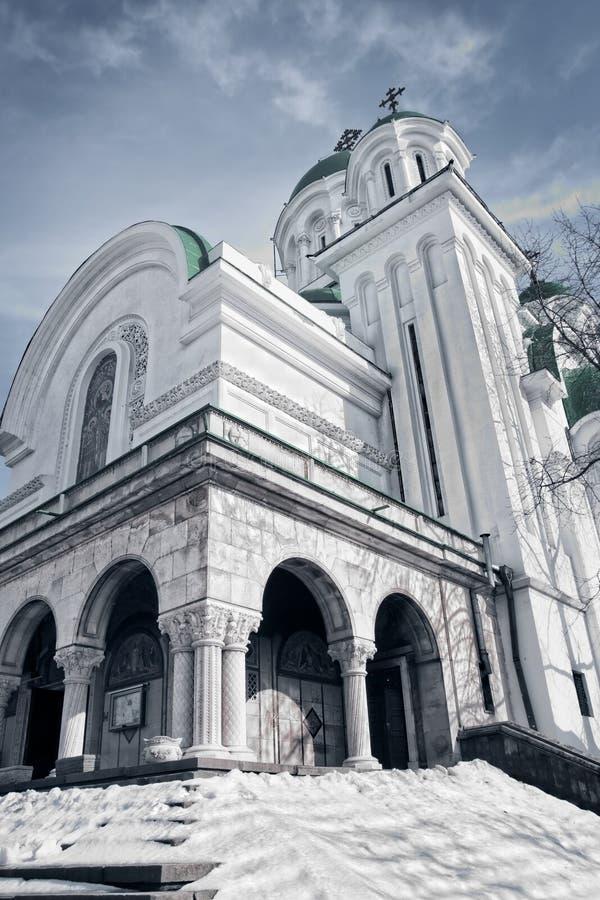 Exterior Of Orthodox Old Antique Church Stock Photos