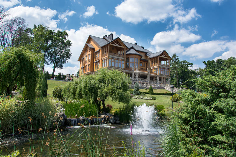 Exterior of a residential home royalty free stock photos