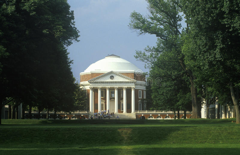 Exterior of Rotunda at University of Virginia designed by Thomas Jefferson, Charlottesville, VA stock images
