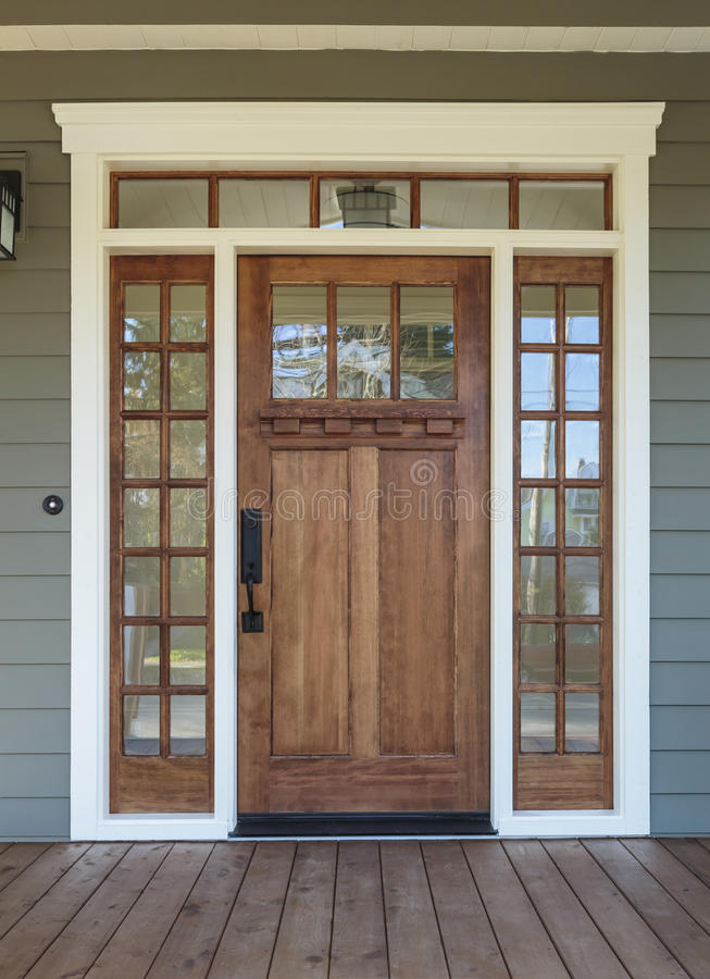 Free Exterior Shot Of A Wooden Front Door Royalty Free Stock Photography - 36650127