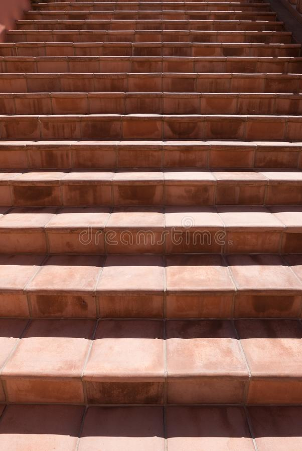 Exterior stairway, light and dark stock images