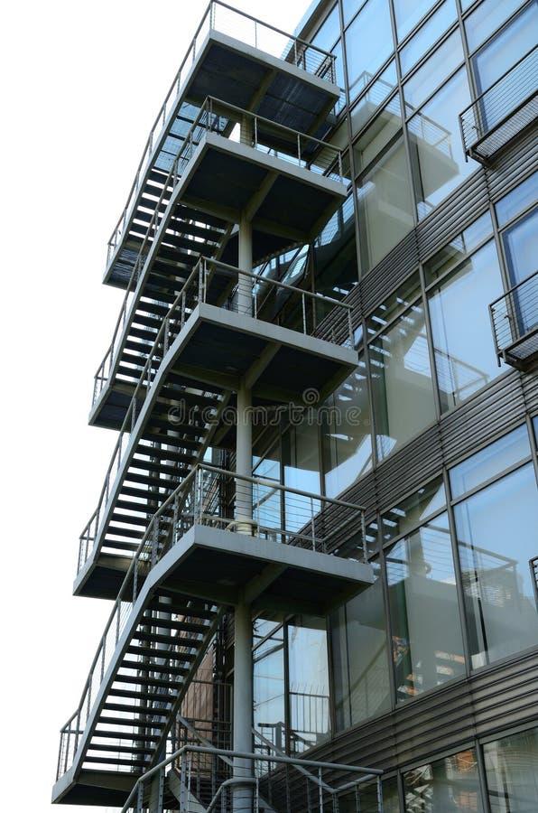 Download Exterior Steel Stairways stock image. Image of business - 19794895