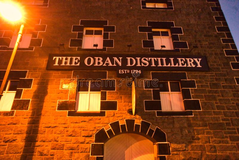 Oban Distillery Scotland stock photo