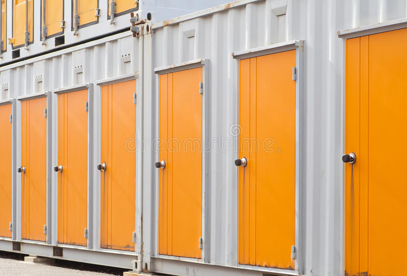 Exterior of storage unit royalty free stock photos