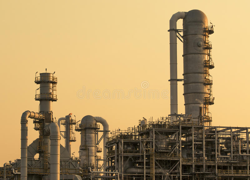 Exterior tube of petrochemical industry stock photography