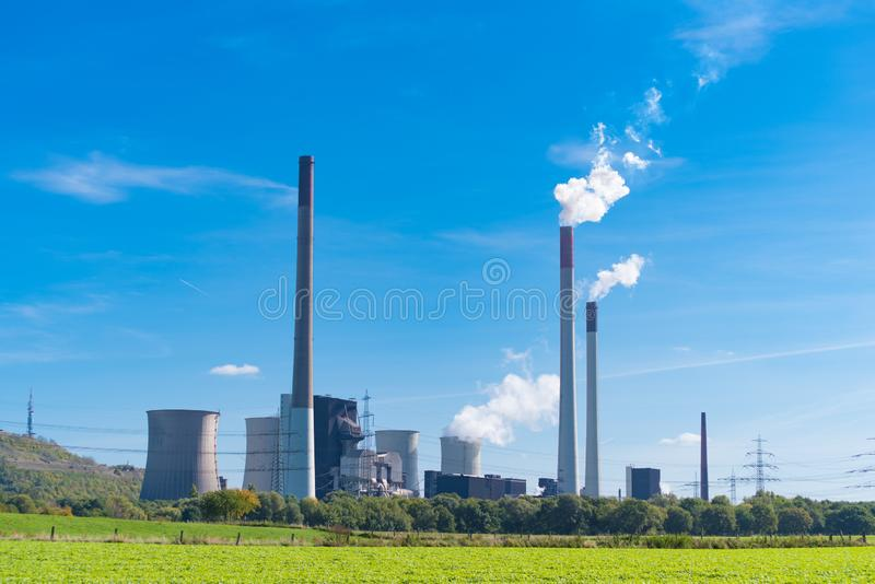 Power station in Germany stock photos