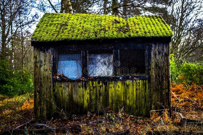 Exterior velho da cabana fotos de stock royalty free
