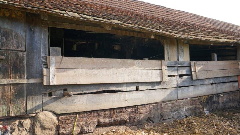 Exterior velho do rancho fotos de stock