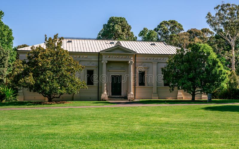 Exterior view of the Adelaide Santos museum of economic botany building in Adelaide South Australia stock photo
