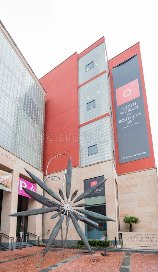 Exterior view of the beautiful Ogden Museum. New Orleans, FEB 25: Exterior view of the beautiful Ogden Museum on FEB 25,2018 at New Orleans, Louisiana royalty free stock photo