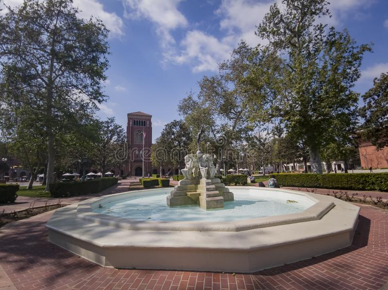 Exterior view of Bovard Auditorium of USC. Los Angeles, APR 2: Exterior view of Bovard Auditorium of USC on APR 2, 2019 at Los Angeles, California stock image