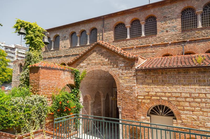 Exterior view of the Byzantine chuch of Acheiropoietos in Thessaloniki. Greece stock photos