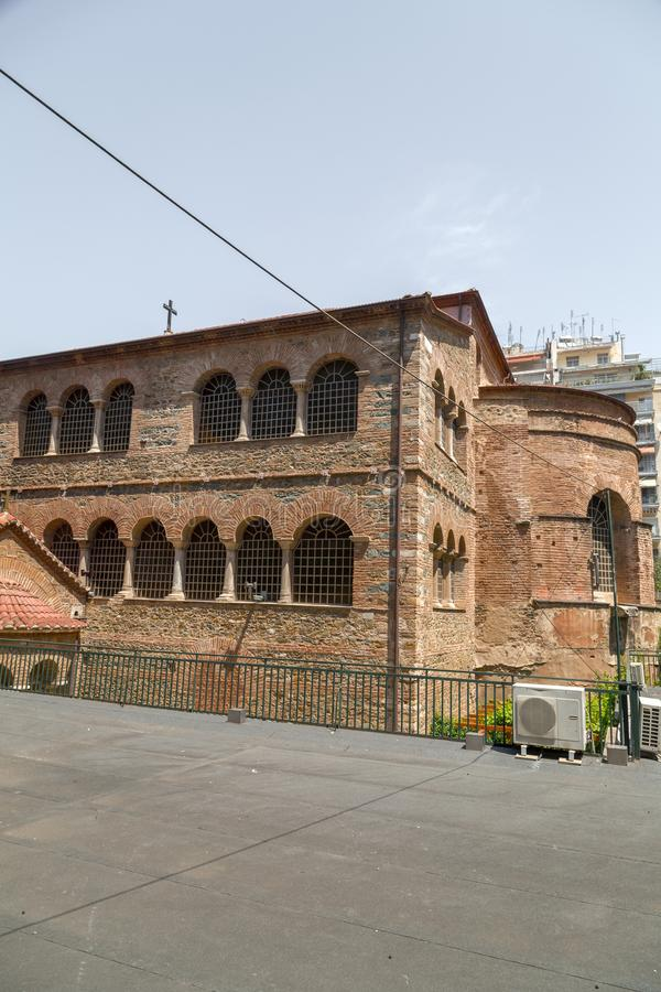 Exterior view of the Byzantine chuch of Acheiropoietos in Thessaloniki. Greece stock photography