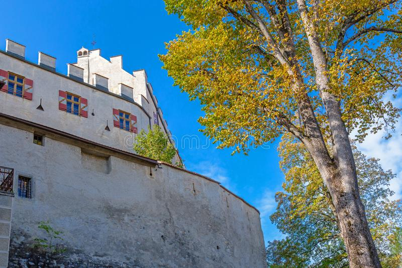 Exterior view of the castle in Bruneck. South Tyrol royalty free stock images