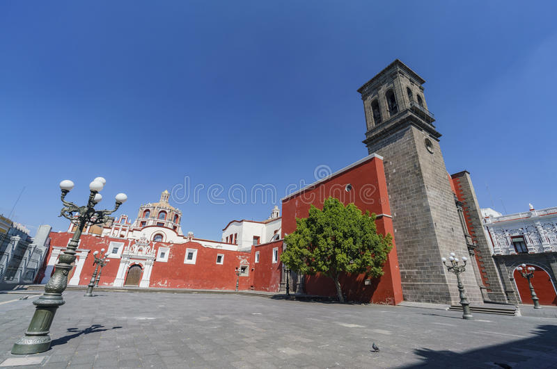 Exterior view of Church of Santo Domingo stock images