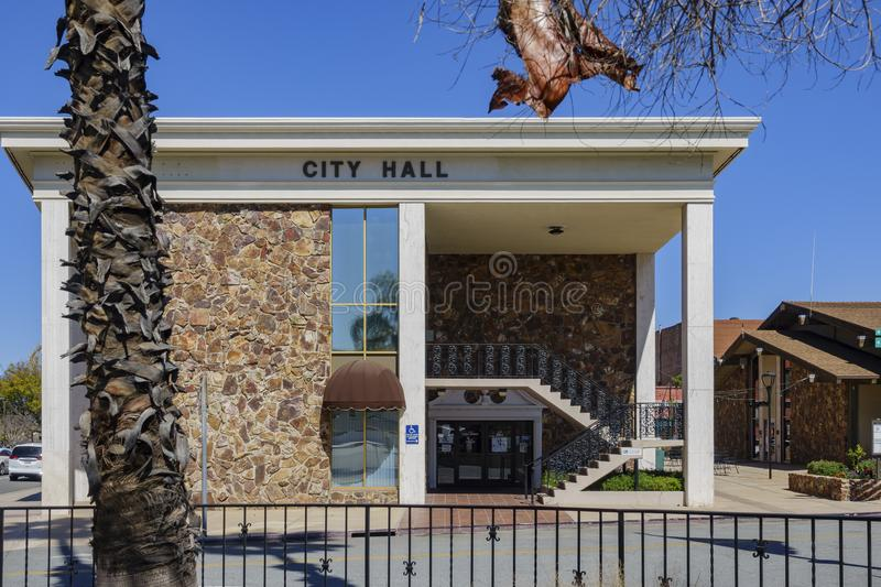 Exterior view of the City of Redlands City Hall stock images